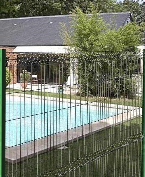Panneau de clôture rigide hauteur 2,03 mètres pour poteaux ...
