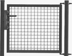 Portillon portail pour cl ture rigide hauteur 1 15 m et for Portillon 1m20