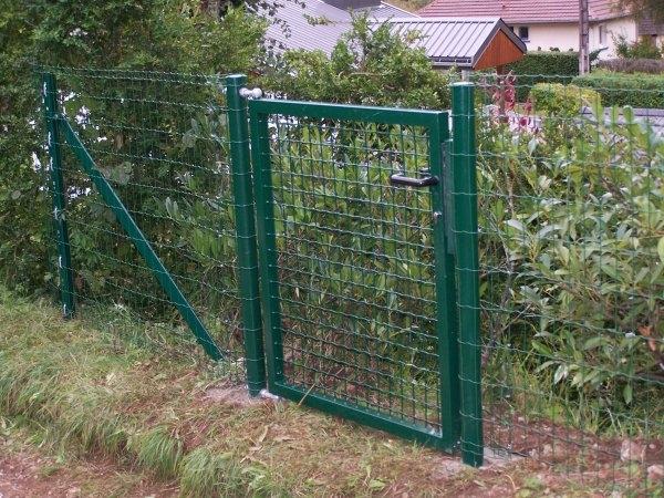 Portillon portail pour cl ture rigide hauteur 1 95 m et largeur 1 m outiland - Cloture chien jardin ...