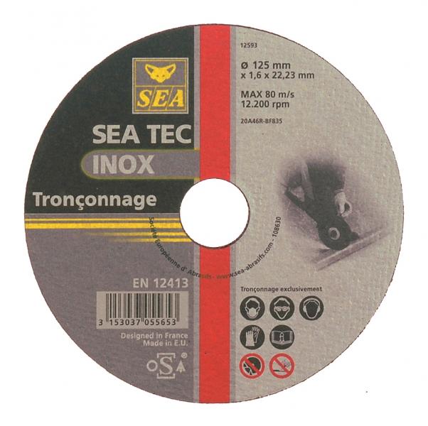 Disque a tronconner acier inox diametre 125mm epaisseur 1 - Disque a tronconner ...