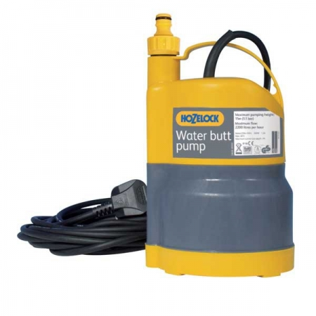 Pompe immerg e pour r cup rateur eau de pluie hozelock for Pompe a eau pour recuperateur eau de pluie