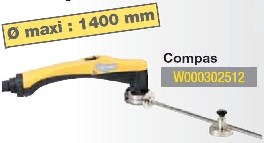 compas pour d coupeur plasma weldteam diametre maxi 1400mm. Black Bedroom Furniture Sets. Home Design Ideas