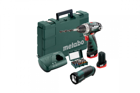 Perceuse-visseuse Powermax BS basic 10.8V + lampe et embouts METABO