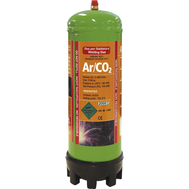 Cartouche de gaz jetable 2,2L Argon/CO2 GYS