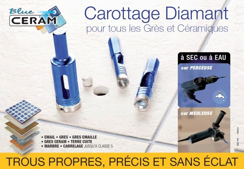 Foret diamant pour le percage du carrelage et des gr s for Appareil pour nettoyer le carrelage