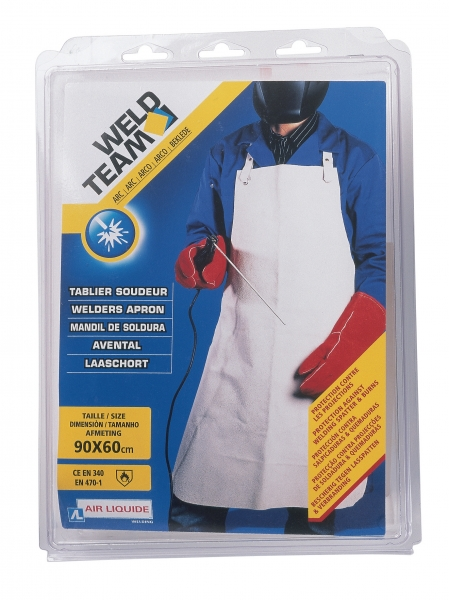 Tablier de soudeur en cuir weldteam tablier de soudure - Tablier de soudeur ...
