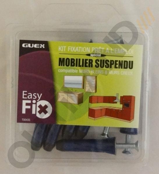 Fixation pour tag re lourde ou gros meuble suspendu pret for Kit fixation meuble haut cuisine