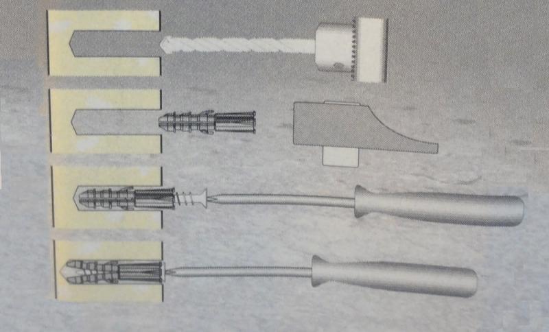 Cheville fixation pour mur plein cheville en nylon outiland for Cheville chimique mode d emploi