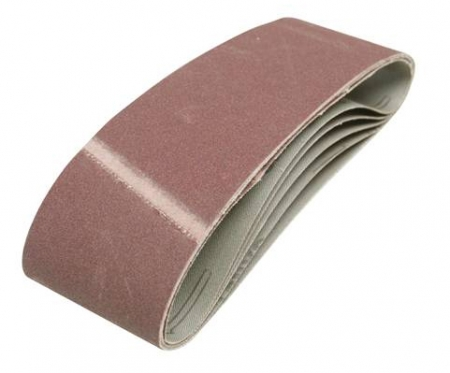 Bandes abrasives 75x533 - Grain moyen 80 - Lot 5